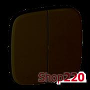 Клавиша выключателя двухклавишного, антрацит, Valena 755028 Legrand
