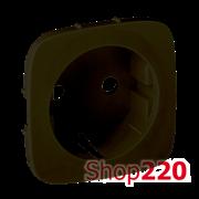 Лицевая панель розетки с заземлением, антрацит, Valena 755208 Legrand