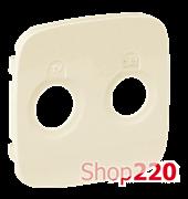 Лицевая панель розетки TV-SAT, слоновая кость, Valena 754826 Legrand