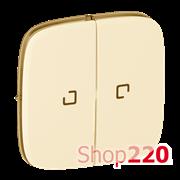 Клавиша выключателя двухклавишного с подсветкой, слоновая кость, Valena 755226 Legrand
