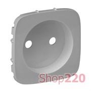 Лицевая панель розетки без заземления, алюминий, Valena 754977 Legrand