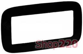 Рамка 5 модулей для изделий Mosaic матовый черный, Valena 754406 Legrand