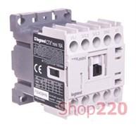 Контактор 9 А, катушка 230 В AC, 3 полюса, Legrand 417036 mini CTX3