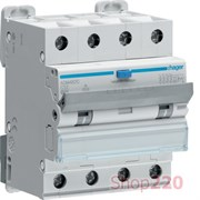 Трехфазный дифференциальный автомат 6 А, 300мА, тип Hi, AFH456H Hager