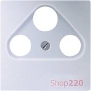 Накладка для ТВ+SAT розетки, алюминий, Jung Eco Profi EP561BFPLSATAL