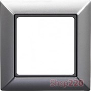Рамка 1 пост, алюминий, JUNG Eco Profi EP481AL