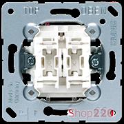 Выключатель проходной 2-клавишный (механизм), Jung A500 509u