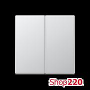 Клавиша 2-кл., алюминий, Jung A500 A595AL