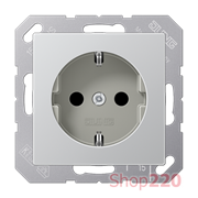 Розетка электрическая (механизм), алюминий, Jung A500 A1520AL