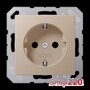 Розетка электрическая (механизм), шампань, Jung A500 A1520CH