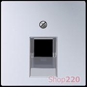 Накладка для телефонной и компьютерной розеток, алюминий, Jung A500 A569-1PLUAAL