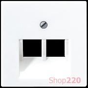 Накладка для двойной компьютерной розетки, белый, Jung A500 A569-2BFPLUAWW