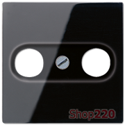 Накладка для ТВ розетки, черный, Jung A500 A561PLTVSW