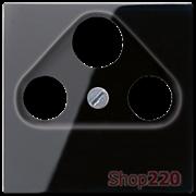 Накладка для ТВ+SAT розетки, черный, Jung A500 A561PLSATSW