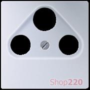 Накладка для ТВ+SAT розетки, алюминий, Jung A500 A561PLSATAL