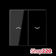 Накладка механизма управления жалюзи, черный, Jung A500 A595PSW
