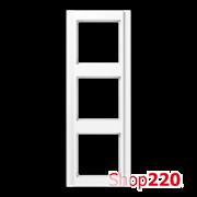 Рамка 3 поста, белый, Jung A500 A583WW