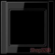 Рамка 1 пост, черный, Jung A500 A581SW