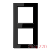 Рамка 2 поста, черный, Jung A500 A582SW