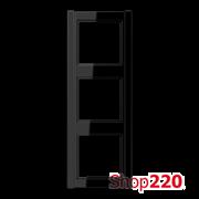 Рамка 3 поста, черный, Jung A500 A583SW