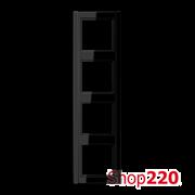 Рамка 4 поста, черный, Jung A500 A584SW