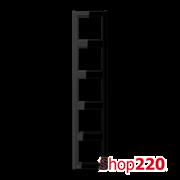 Рамка 5 постов, черный, Jung A500 A585SW