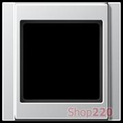 Рамка 1 пост, алюминий, Jung A500 A581AL