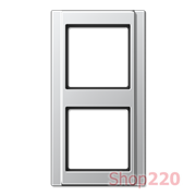 Рамка 2 поста, алюминий, Jung A500 A582AL