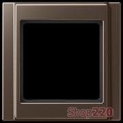 Рамка 1 пост, мокка, Jung A500 A581MO