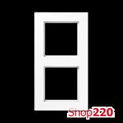 Рамка 2 поста, белый, Jung A Creation AC582WW