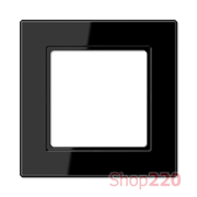 Рамка 1 пост, черный, Jung A Creation AC581SW