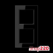 Рамка 2 поста, черный, Jung A Creation AC582SW