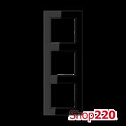 Рамка 3 поста, черный, Jung A Creation AC583SW