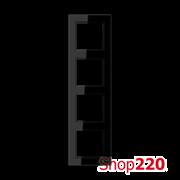 Рамка 4 поста, черный, Jung A Creation AC584SW