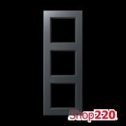 Рамка 3 поста, антрацит матт, Jung A Creation AC583BFANM