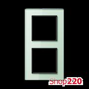 Рамка 2 поста, бирюзовое стекло, Jung A Creation AC582GLWMT