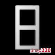 Рамка 2 поста, белое стекло, Jung A Creation AC582GLWW