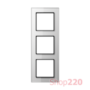 Рамка 3 поста, белое стекло, Jung A Creation AC583GLWW