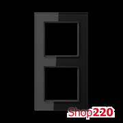 Рамка 2 поста, черное стекло, Jung A Creation AC582GLSW