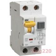Автоматический выключатель дифф. тока 20А 30мА, уставка С, АВДТ32 IEK