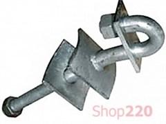 Крюк сквозной с пластиной, 250мм, М20, e.through.hook.pro.250.20.s