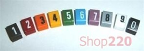 Маркеры, цифра 3, оранжевый, Дупликс