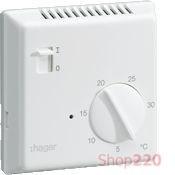 Термостат цифровой, ручное ВКЛ/ВЫКЛ, EK003 Hager