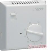 Термостат биметаллический, ручное ВКЛ/ВЫКЛ, EK051 Hager