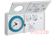 Термостат аналоговый с функцией суточного таймера, EK410 Hager