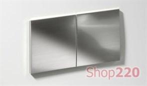 Врезной блок розеток Bachmann Due 2x220, алюминий