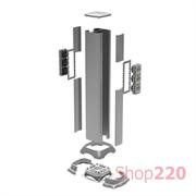 Мини-колонна напольная алюминиевая, высота 35см, металлик, ДКС