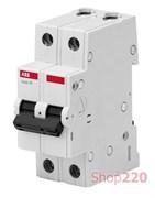 Автоматический выключатель 16А, 2 полюса, уставка C, ABB BMS412C16
