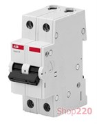 Автоматический выключатель 20А, 2 полюса, уставка C, ABB BMS412C20