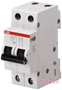 Автоматический выключатель 16А, 2 полюса, уставка B, ABB SH202-B16